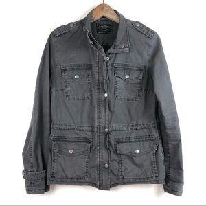 Lucky Brand Dark Gray Utility Jacket Small
